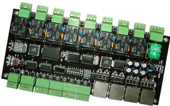 8组电锁继电器输出端口;采用可拆卸式的接线端子保护
